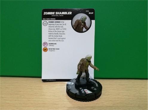 Undead WizKids HeroClix - 010 Zombie Shambler