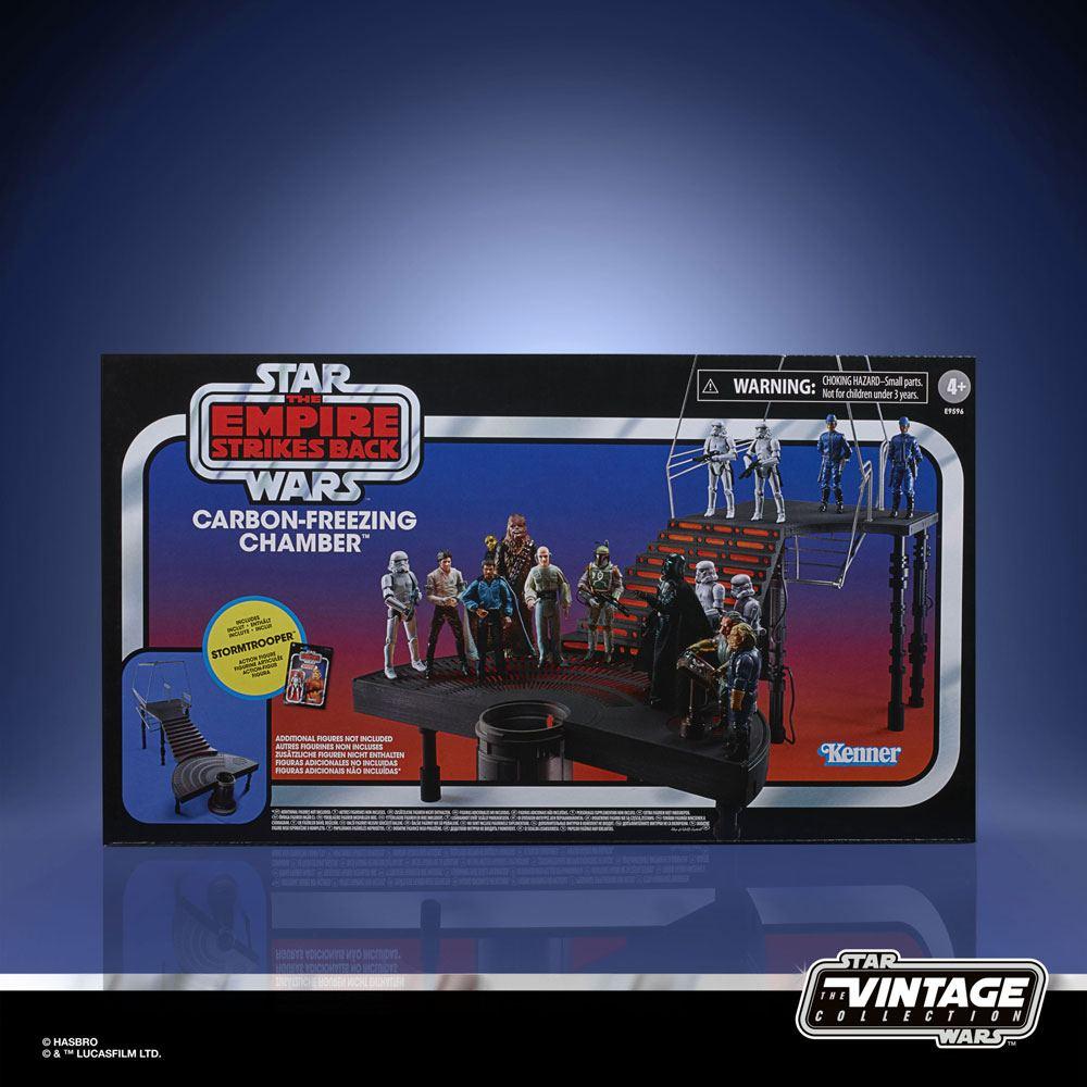 Star Wars Episode V Vintage Collection Carbon-Freezing Chamber con figura de Stormtrooper 10 cm